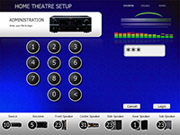 home theater touch screen interface software